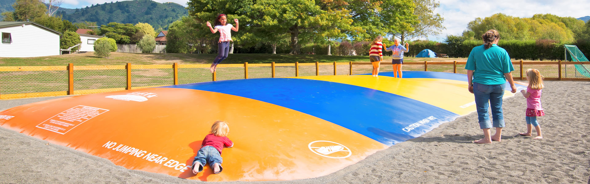 Kids Play Area At Parklands Marina Holiday Park In Picton NZ